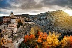 La ville d'Albarracin Image stock