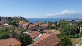 La ville d'Antalya comme vu chez l'Oldtown Kaleici Photographie stock libre de droits