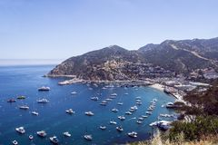 La ville d'Avalon sur Santa Catalina Island Images stock
