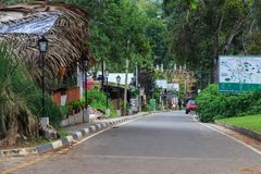 La ville d'Ella en montagnes de Sri Lanka photographie stock