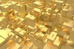 La ville d'or d'idée riche de concept de richesse au coucher du soleil rayonne le fond abstrait de l'espace rendu de l'illustrati illustration libre de droits