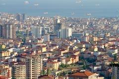 La ville d'Istanbul est une étude de cas concrète Images libres de droits