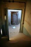 La ville d'ordinateur de secours dans Kolmanskop Image stock