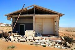 La ville d'ordinateur de secours dans Kolmanskop Photographie stock