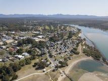 La ville d'Urunga, Nouvelle-Galles du Sud photos libres de droits