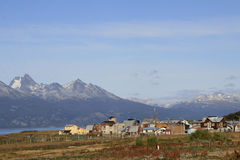 La ville d'Ushuaia, Argentine Photo stock