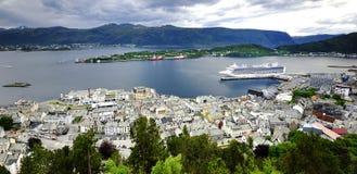 La ville de Bergen Photographie stock libre de droits