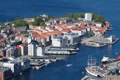 La ville de Bergen, Norvège Photos stock
