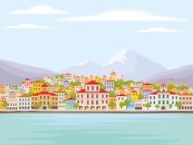 La ville de bord de la mer Photographie stock