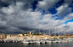 La ville de Cannes, France Photo stock
