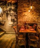 La ville de la Chine, mangent dans le viet restaurantan photos stock
