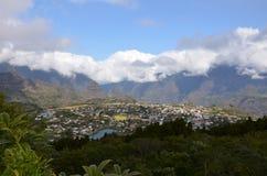 La ville de Cilaos, Reunion Island, France photos libres de droits