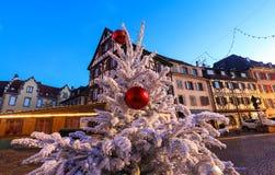 La ville de Colmar est décorée pour Noël, Alsace, France images stock