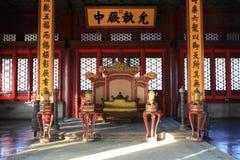 La ville de Forbiden intérieure du palais de Taihe images stock