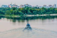 La ville de Gomel et de la rivière Sozh photo stock