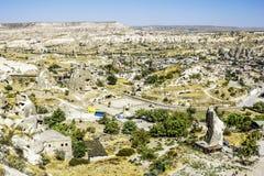 La ville de Goreme-Capadocia, la capitale de tourisme de la Turquie Photographie stock libre de droits