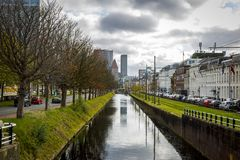La ville de la Haye aux Pays-Bas Photographie stock