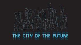La ville de l'avenir Image stock