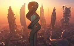 La ville de l'imagination illustration libre de droits