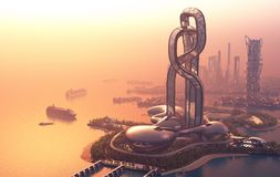 La ville de l'imagination illustration stock