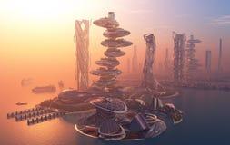 La ville de l'imagination illustration de vecteur