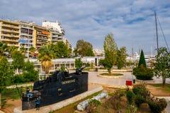 La ville de Le Pirée photo stock