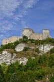 La ville de Les Andelys dans le normandie image libre de droits