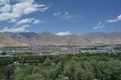 La ville de Lhasa Images libres de droits