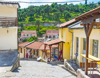 La ville de montagne Images libres de droits