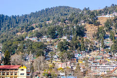 La ville de Nainital photos libres de droits