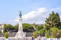 La ville de Nice monument shooted at daylight royalty free stock photo