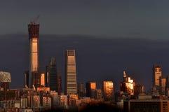 La ville de Pékin sous le coucher du soleil image libre de droits