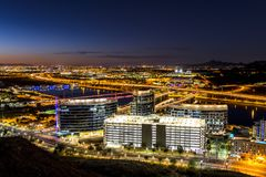 La ville de Phoenix Arizona donnent sur Photo stock