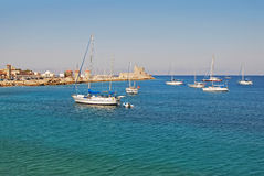 La ville de Rhodes Photo libre de droits