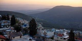 La ville de Safed en Israël du nord Images libres de droits