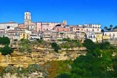 La ville de Santa Severina dans la province du Croton, Italie photographie stock libre de droits