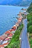 La ville de Scilla dans la province du Reggio de Calabre, Italie photos stock