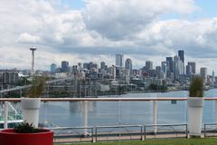 La ville de Seattle Images libres de droits