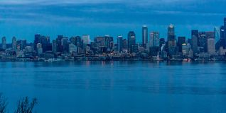 La ville de Seattle allume 3 photographie stock libre de droits