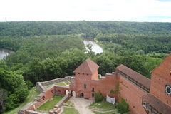 La ville de Sigulda d'architecture de la Lettonie Image libre de droits