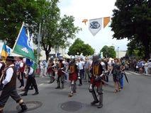La ville de Silute célèbrent 507 ans de jour d'existence, Lithuanie image libre de droits