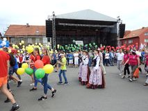 La ville de Silute célèbrent 507 ans de jour d'existence, Lithuanie photo libre de droits