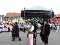 La ville de Silute célèbrent 507 ans de jour d'existence, Lithuanie photographie stock libre de droits