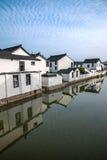 La ville de Suzhou, la ville antique du Lu jette un pont sur des personnes Photographie stock libre de droits