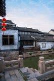 La ville de Suzhou, la ville antique du Lu jette un pont sur des personnes Photo stock