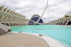 La ville de Valence des arts et du musée de la Science Photographie stock libre de droits