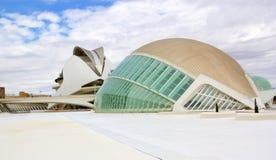 La ville de Valence des arts et du musée de la Science Images stock