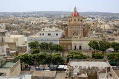 La ville de Victoria sur Gozo Image libre de droits