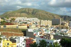 La ville de la visibilité directe Cristianos, Ténérife, Îles Canaries, Espagne photo libre de droits