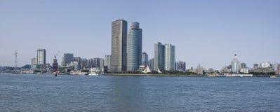 La ville de Xiamen, vue de porcelaine de gualangyu Image libre de droits